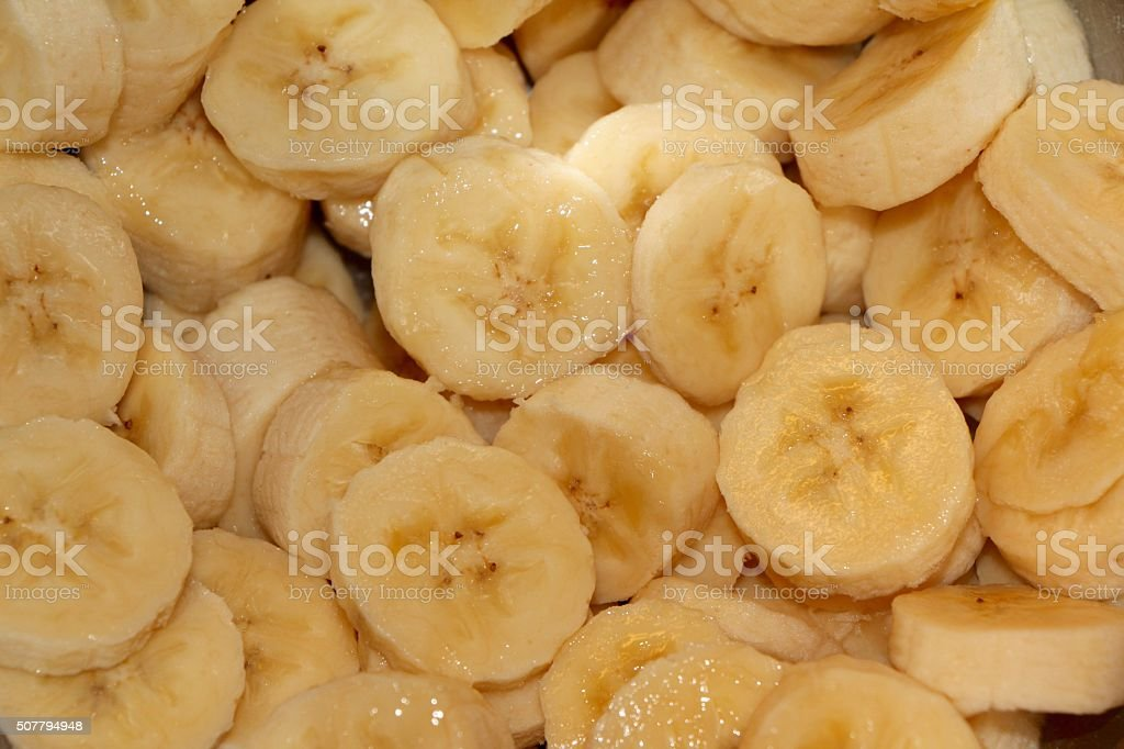 Cut out bananas stock photo
