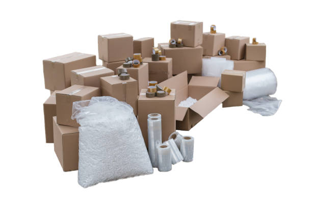 Cut out boxes stock photo