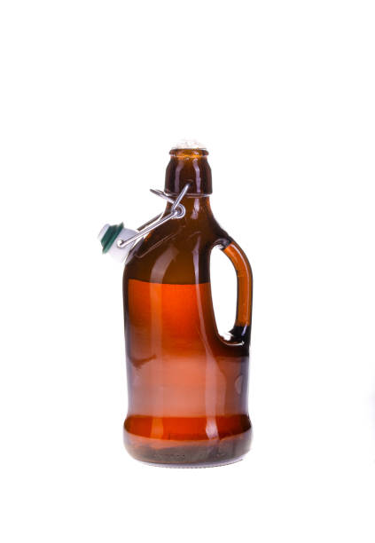 cut out classic german beer bottle stock photo