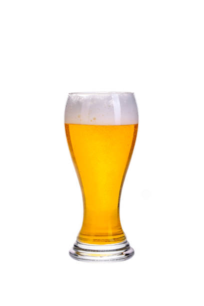 cut out glass of beer stock photo