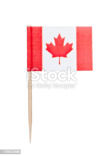 istock Cut out of a Canadian paper flag 178923496