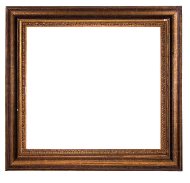 cut out old picture frame stock photo