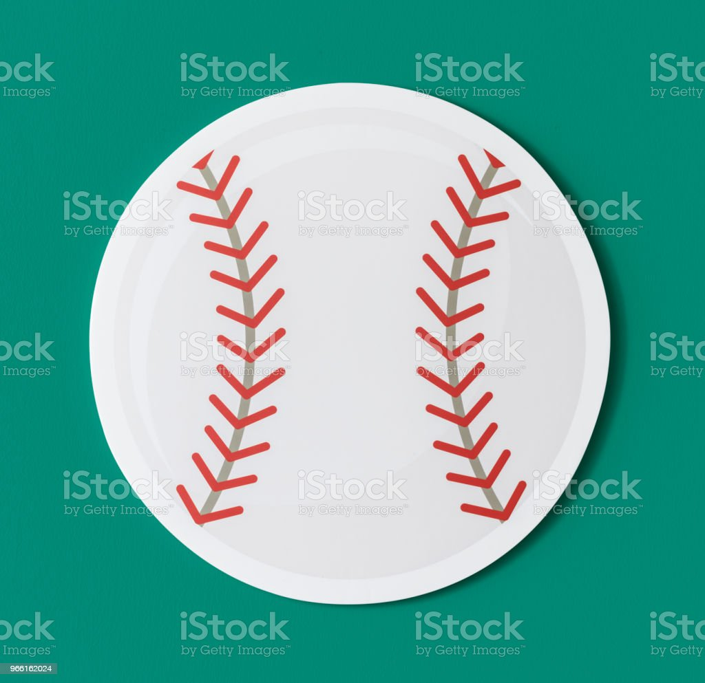 Cut out paper baseball graphic - Royalty-free Art Stock Photo