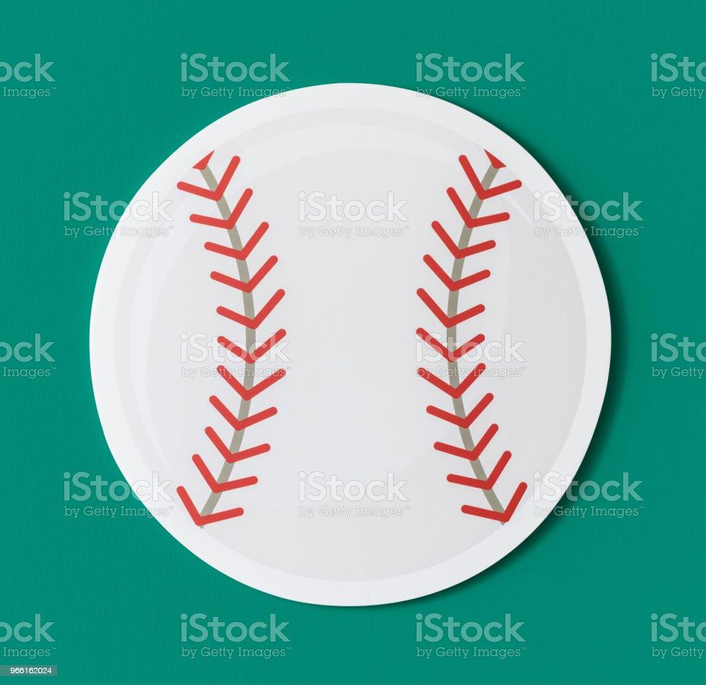 Cut out paper baseball graphic - Стоковые фото Атлет роялти-фри