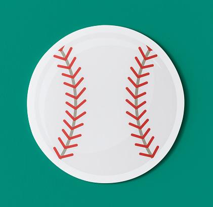 Cut Out Paper Baseball Graphic — стоковые фотографии и другие картинки Атлет