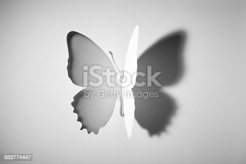istock Cut out Paper Buttlerfly 533774447