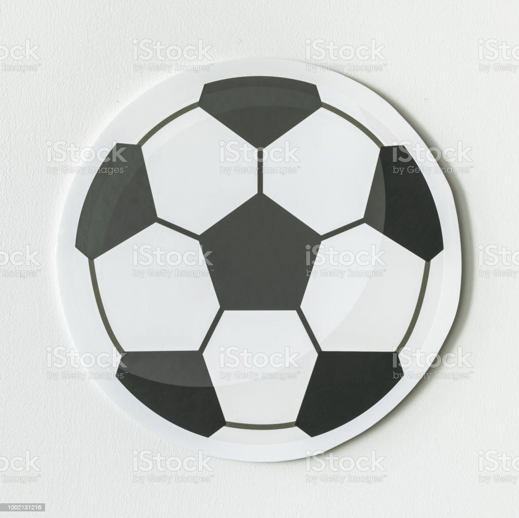 Schneiden Sie Papier Fussball Grafik Stockfoto Und Mehr