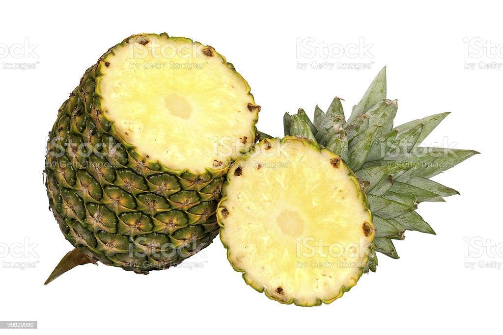 cut pineapple royalty-free stock photo