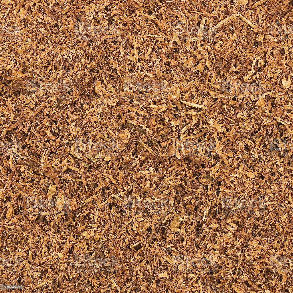 Cut Pipe Tobacco Texture Background, Textured Macro Closeup royalty-free stock photo
