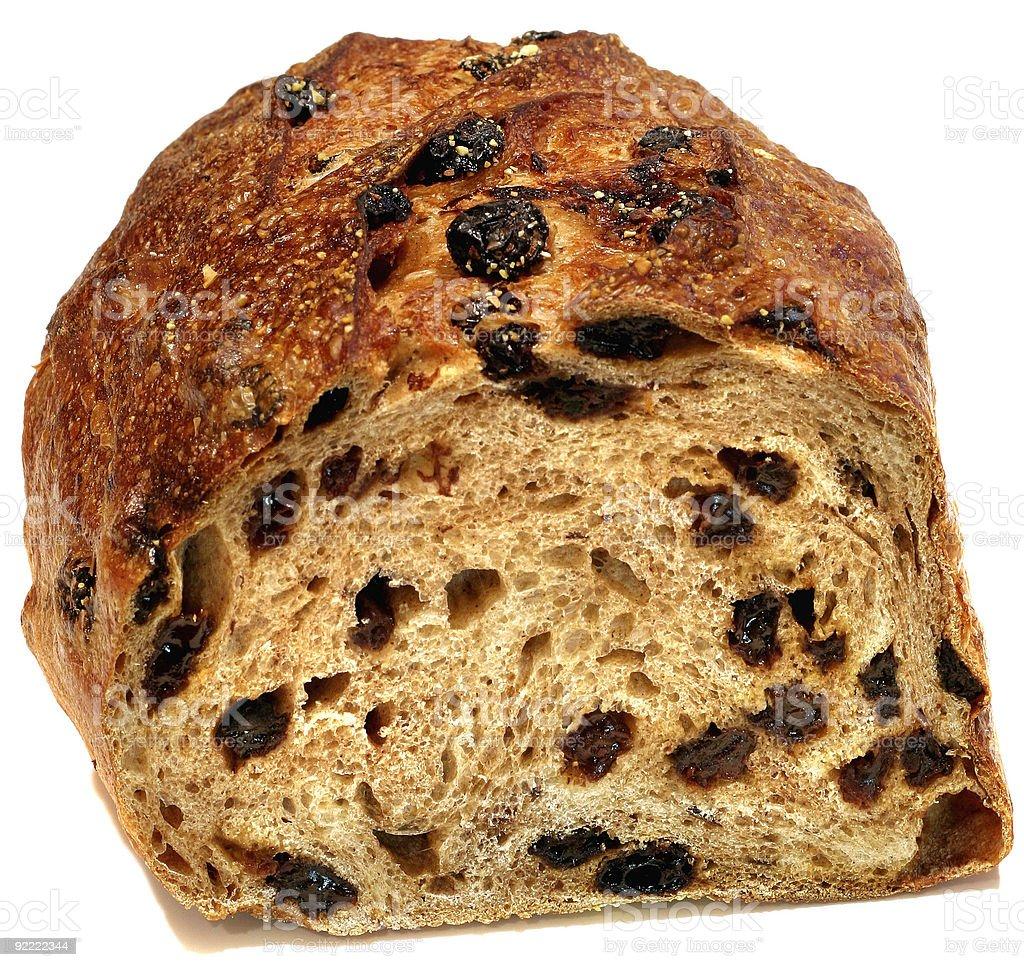 Cut Raisin Bread stock photo
