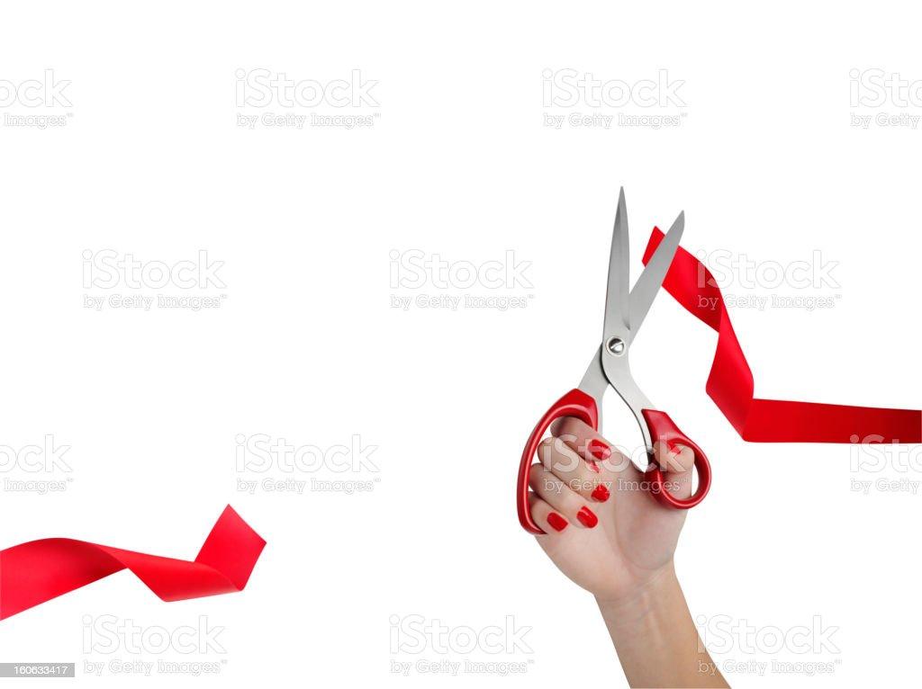 Cut Red Ribbon royalty-free stock photo