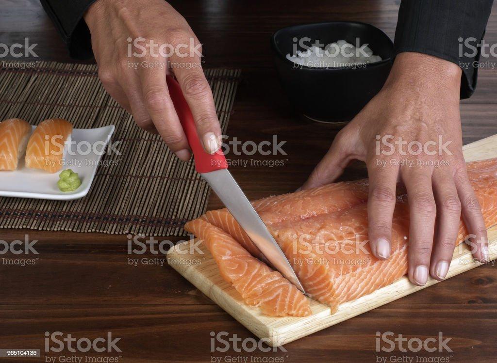 cut salmon zbiór zdjęć royalty-free
