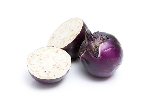 Cut Sicilian Eggplant stock photo