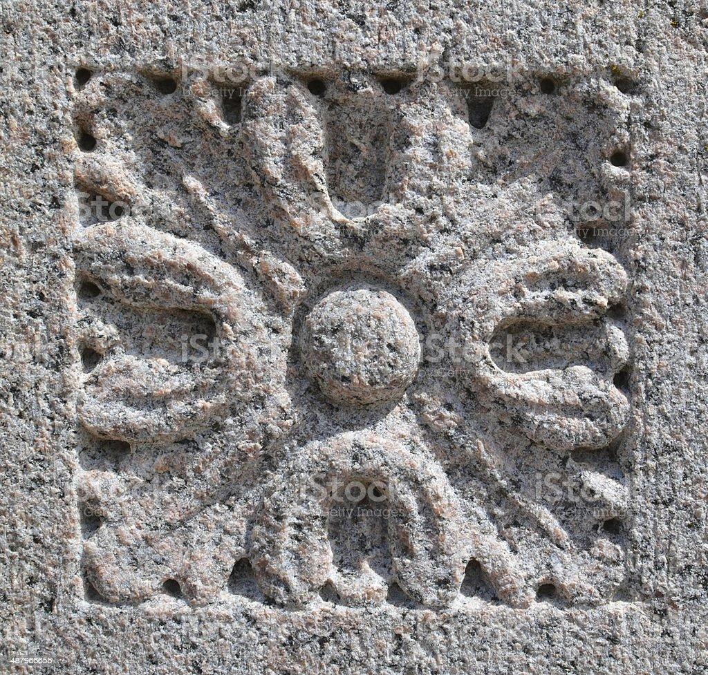 cut stone ornament royalty-free stock photo