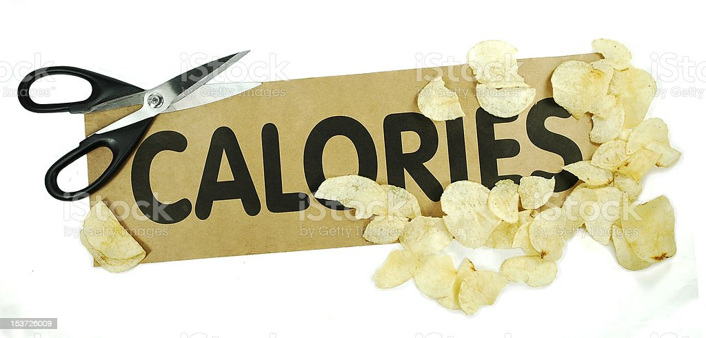 Cut the calories royalty-free stock photo