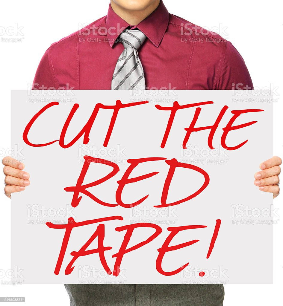 Cut The Red Tape stock photo