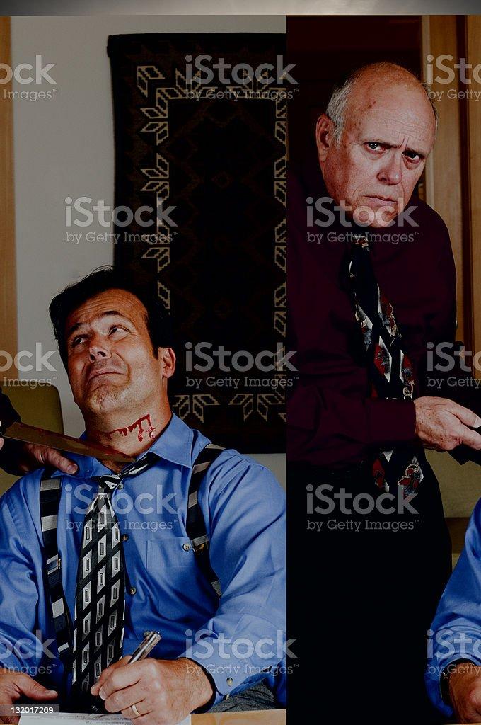 cut throat business man royalty-free stock photo