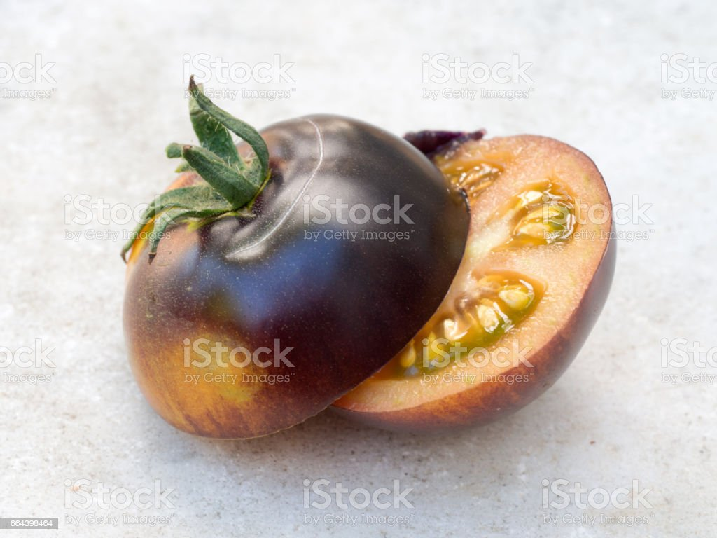Cut to show inside. stock photo