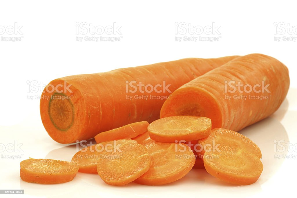 cut winter carrots royalty-free stock photo