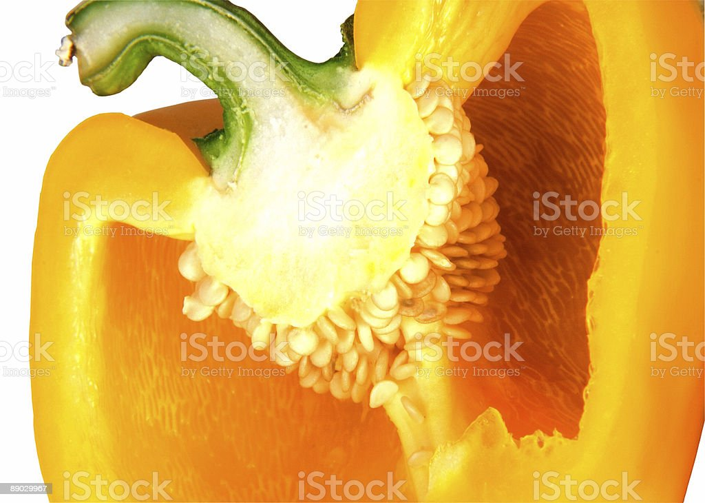 Cut Yellow Pepper royalty-free stock photo