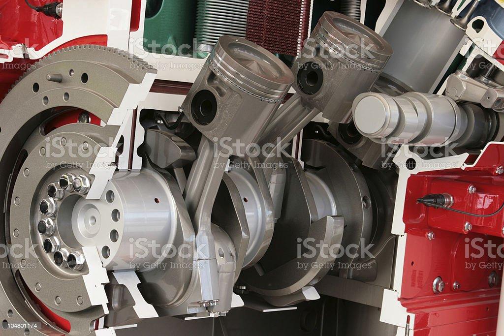 Querschnitt des großen diesel-Motor – Foto