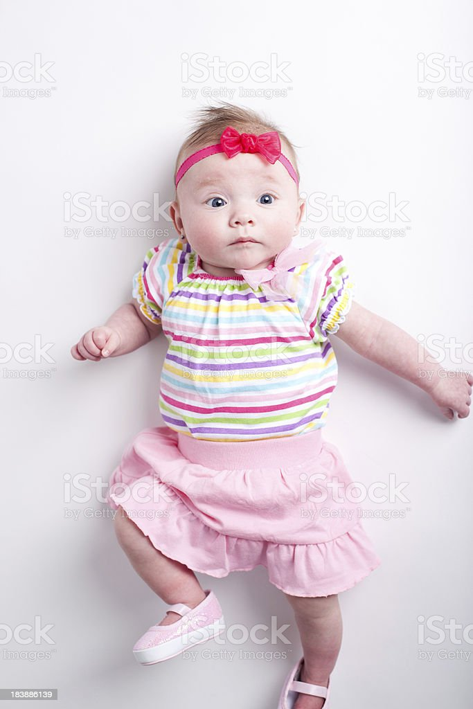471631be1 Cute 3 Month Old Baby Girl Stock Photo   More Pictures of Baby ...