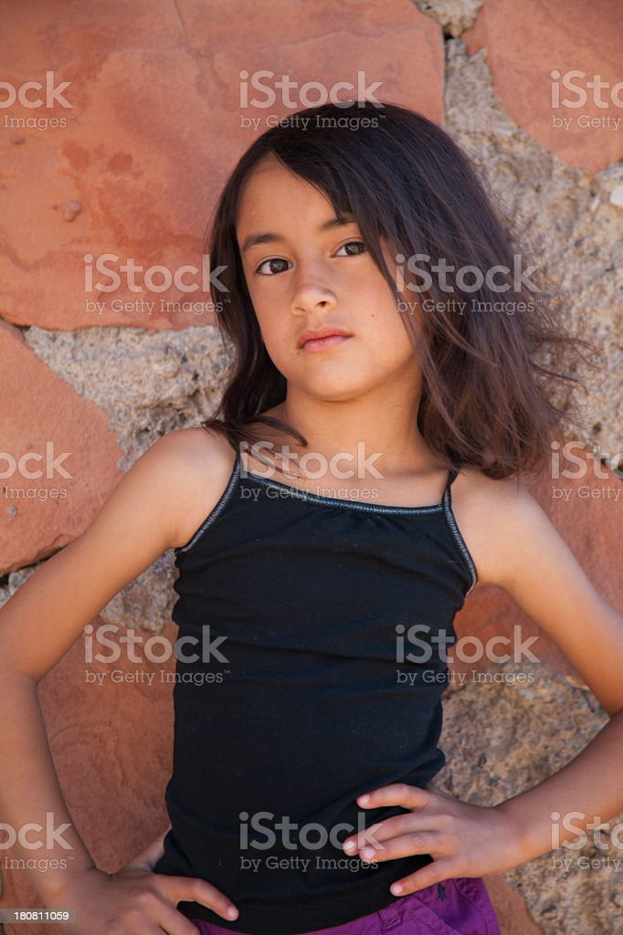 Cute 6 Year Old Girl Outside Stock Photo  More Pictures -4707