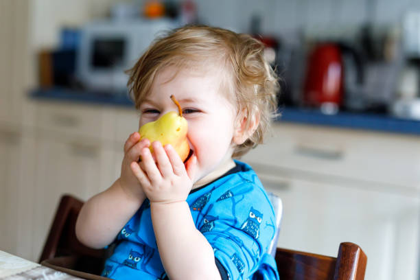 Cute adorable toddler girl eating fresh pear hungry happy baby child picture id936861962?b=1&k=6&m=936861962&s=612x612&w=0&h=p3llja0nbmtebigai52sy kdvly usntipag2qj3n5i=