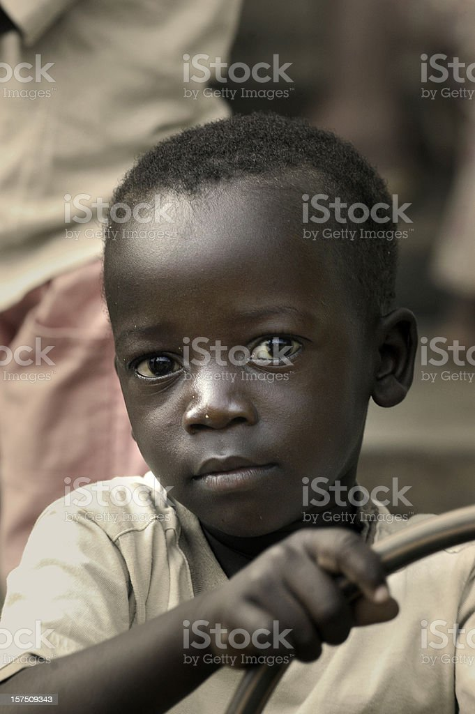 Cute african boy royalty-free stock photo