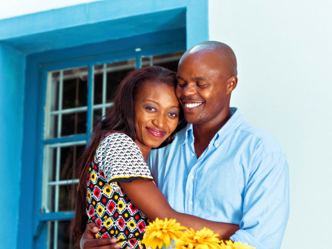 Cute African Couple Stock Photo - Download Image Now