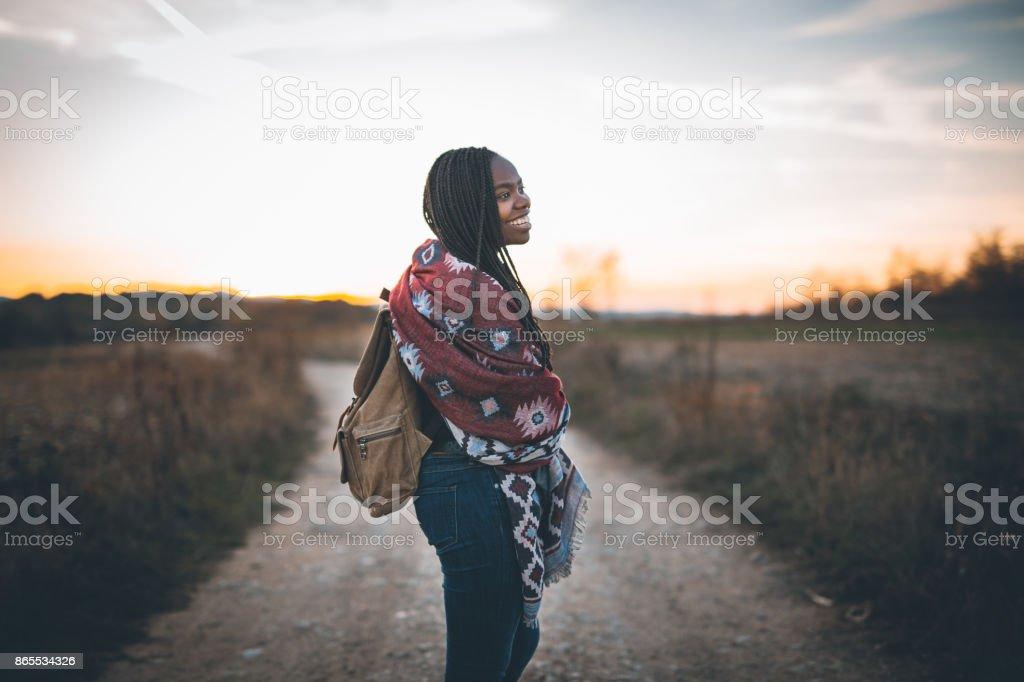 Süße Afrikanerin, Wandern – Foto