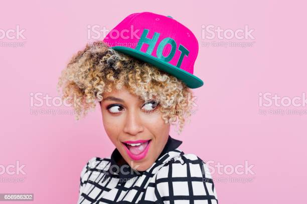 Cute Afro American Young Woman Stock Photo - Download Image Now