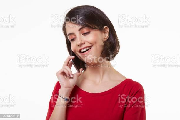 Foto de Bonito E Jovem Mulher Beleza E Telefone Móvel e mais fotos de stock de 20 Anos