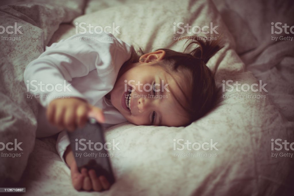 Cute and carefree. stock photo