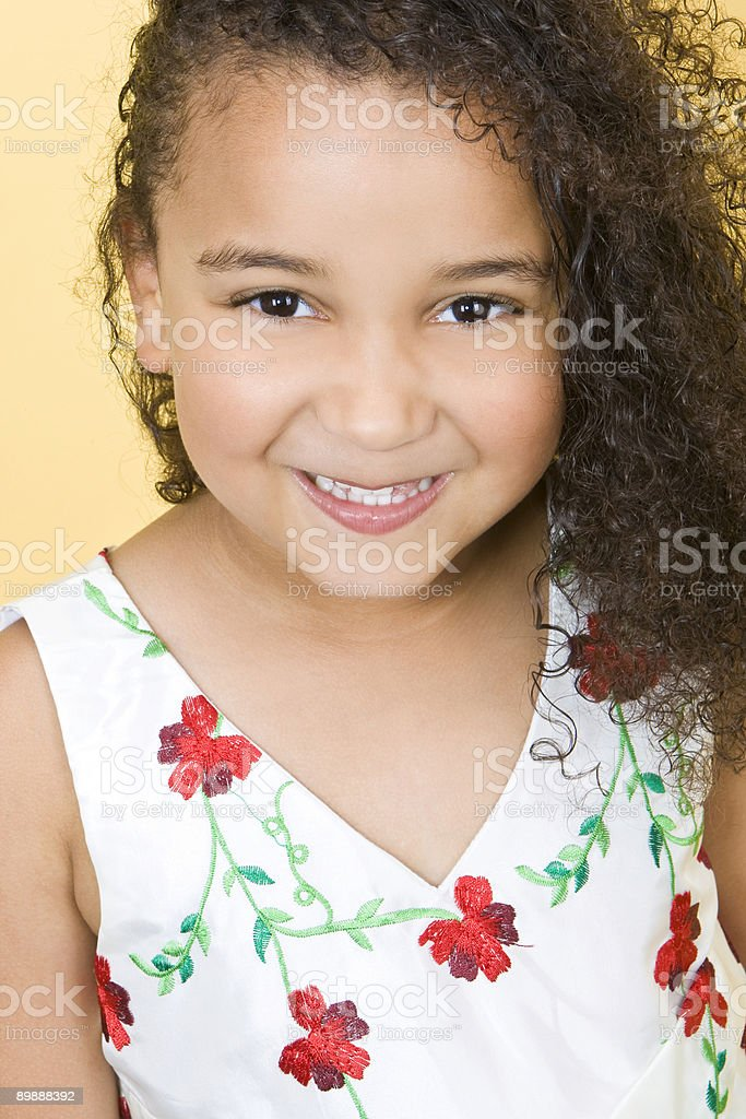Cute and Happy royalty-free stock photo