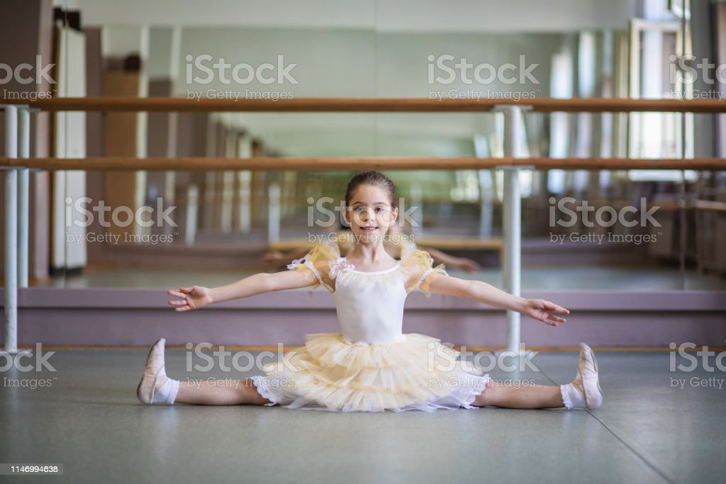 Streching time at a ballet classroom