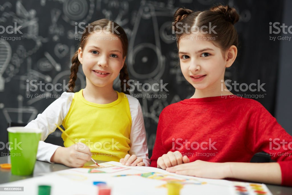 Cute artists royalty-free stock photo