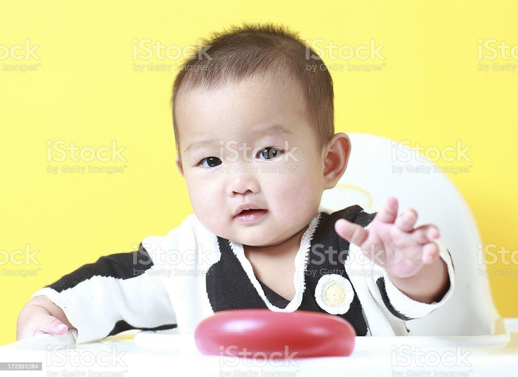 Linda asia bebé foto de stock libre de derechos