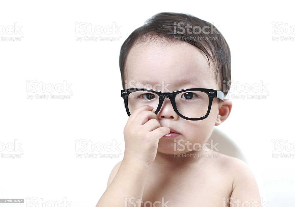 Cute asia baby royalty-free stock photo