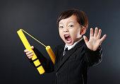 Cute asia child Kung Fu