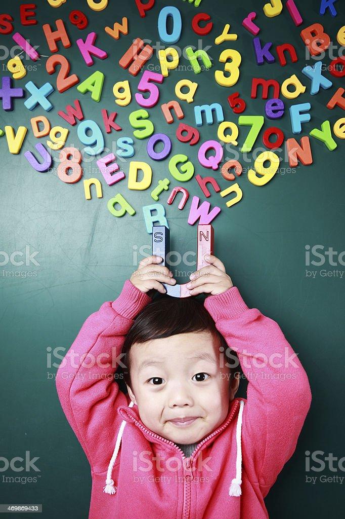 Cute asia children stock photo