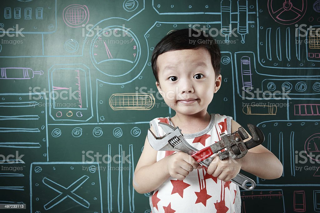 Cute asia children royalty-free stock photo