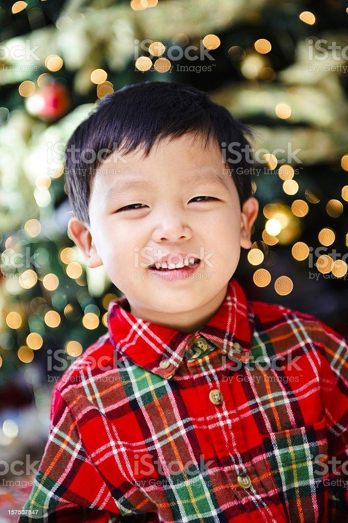 Cute Asian boy smiling royalty-free stock photo