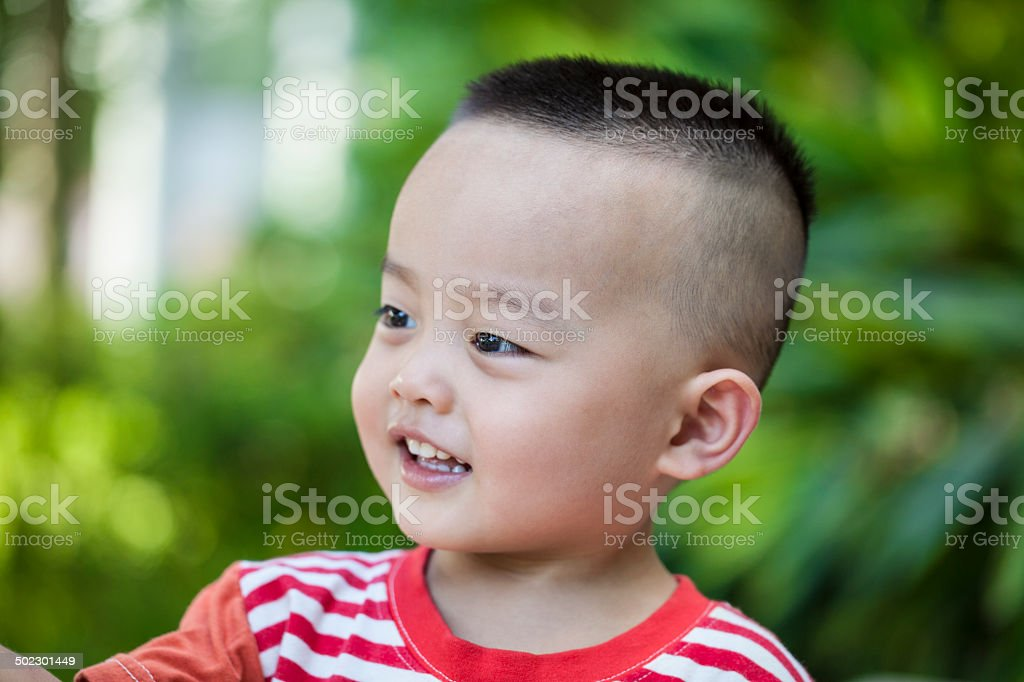 Cute Asian children outdoors royalty-free stock photo