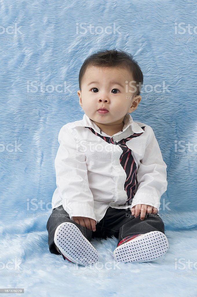 Cute Asian Chinese Baby Boy royalty-free stock photo