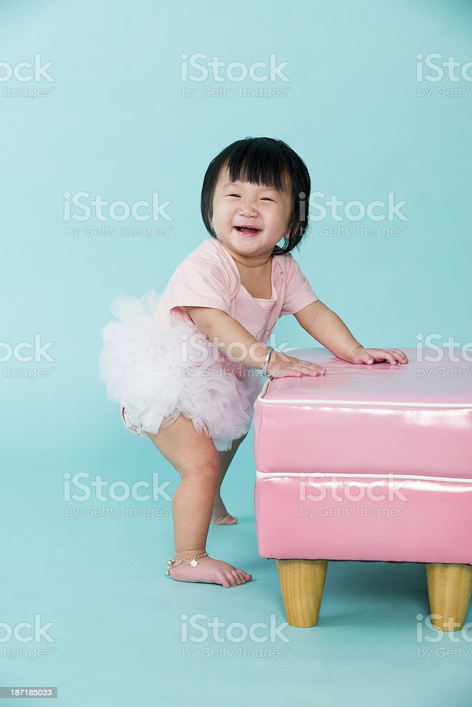 Cute Asian Chinese Baby Girl royalty-free stock photo