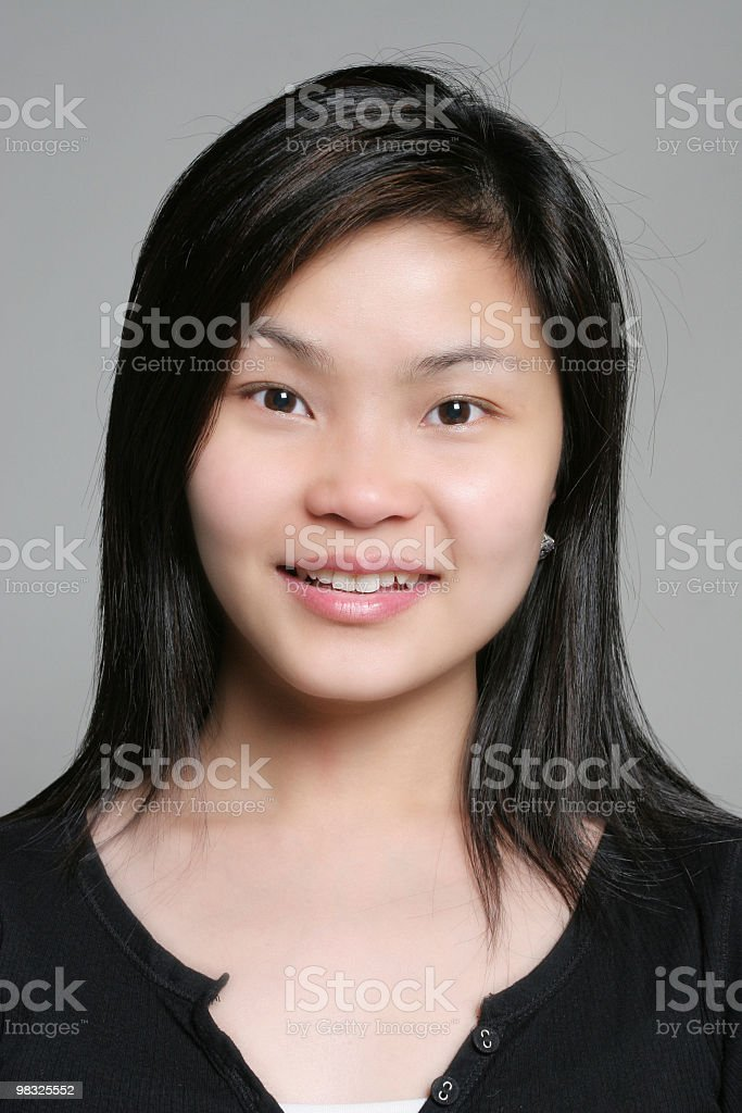 Cute asian female smile royalty-free stock photo
