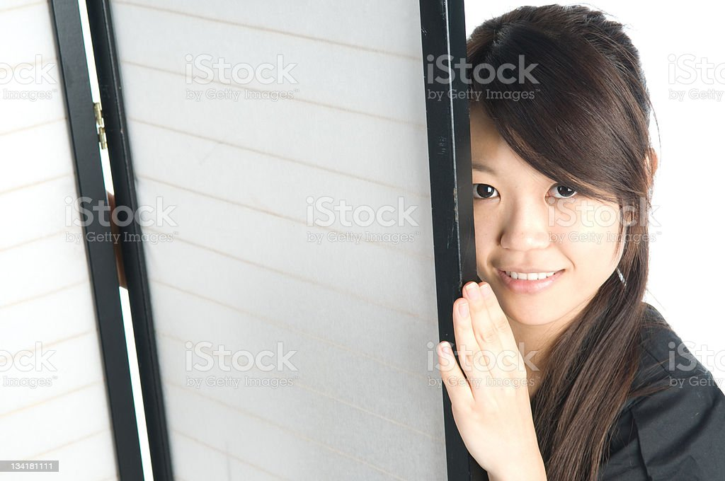 Cute Asian Girl stock photo