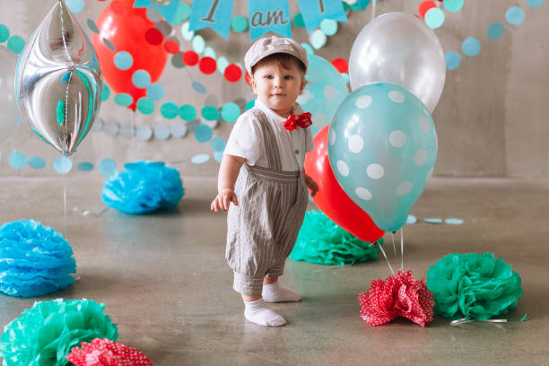 Cute baby boy first birthday party decorated with garland and picture id1161714191?b=1&k=6&m=1161714191&s=612x612&w=0&h=a 7wzrebyee mce7t3uaypkobzfuz evu3hvi tppym=