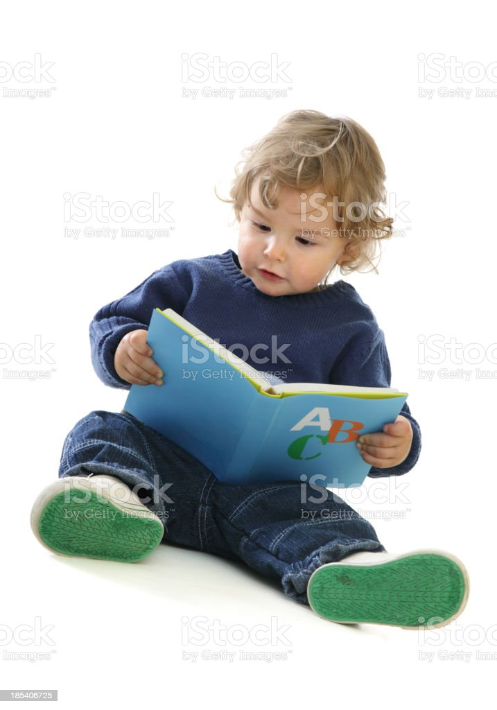 Cute baby Boy with an ABC Book royalty-free stock photo